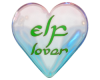 Elf Lover Heart Sticker
