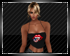 USA Lips Strapless Top