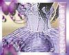 Lavender Flower Ballgown