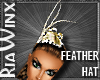 Gold Feather Hat