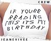 Tce Its My Birthday
