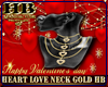 HEART LOVE NECK GOLD HB