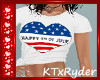 {K} Heart 4th Of July