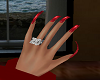 Red Curved Glam Nails