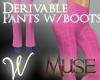 *W* Derive Pants Boots M