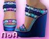 *NoA*Flower Wedge Shoes4