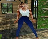 blue legging fit