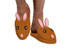 Brown Bunny Slippers M