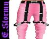 PInk Suspender Pants