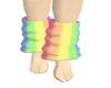Loose rainbow socks