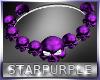 Purple Skull Necklace