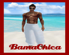 [bp] Beach Pants White