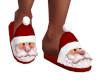 Santa Slipper Red White