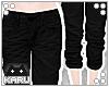 [KA] Cuffed Jeans | Dark