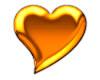 Gold Heart Sticker