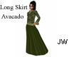 JW Long Skirt Avacado