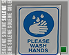 s | Wash Hands Sign II