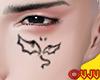 Face Tattoo Demon Wings