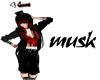 MUSK sign ARABIC