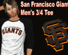 Giants 3/4 Sleeve Tee