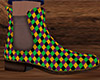 Mardi Gras Ankle Boots M