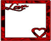 Red Love Pic Frame
