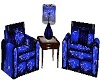 blue hearts  chairs