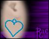 R: Blue Heart Earrings