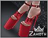Red Velvet High Heels 2