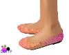 peach pink flat heel