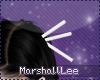  M  White Hair Sticks