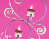 Love Pink Candles