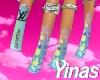 Y. Blue LV Nails e