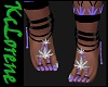 Weed Feet Purple