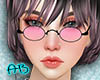 [AB]90'S Glasses Pink
