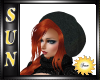 [SUN] Red Hair n Blk Hat