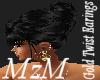 MzM Gold Twist Earings