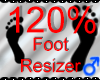 *M* Foot Resizer 120%