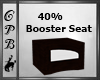 Dark Wood Booster Seat