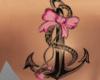 Sweet Back Anchor Tattoo