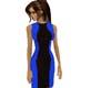black-blue striped dress