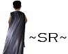 ~SR~Black Leather Cloak