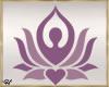 ~H~GYM Yoga Girl Sign