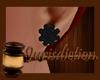 ⌡ Black Bulb Earrings