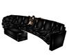 {JV} Black PVC Couch
