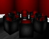 Black Red Group Chairs