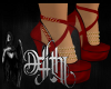china red heels