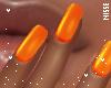 n| Neon Orange Nails