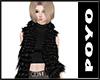 Fur vest-Black