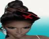 LV LV black Nurse hat